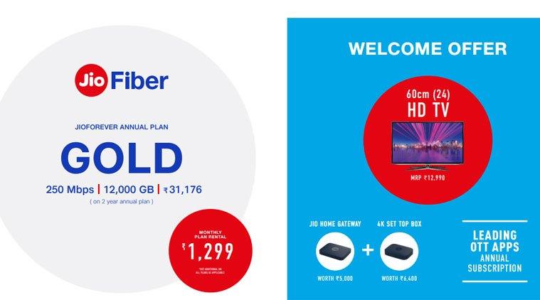 كشفت خطط JioFiber: مكالمات صوتية مجانية ، عرض تلفزيون 4K ، رسوم التركيب 2