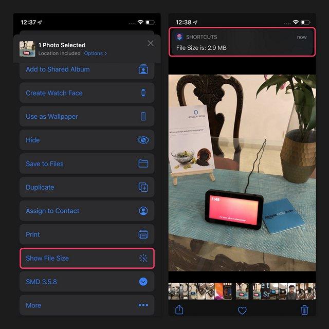 كيفية العثور بسهولة على حجم الملفات في iPhone و iPad 3