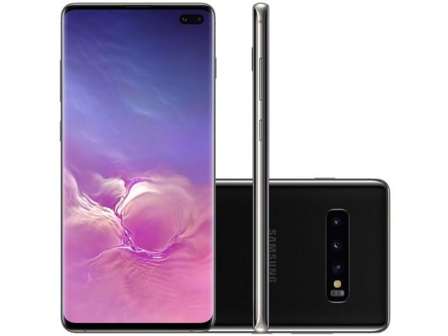 بالإضافة إلى المزيد من ذاكرة الوصول العشوائي وخيارات التخزين ، و Galaxy S10 Plus يحتوي على كاميرا أمامية مزدوجة (الصورة: Magazine Luiza)