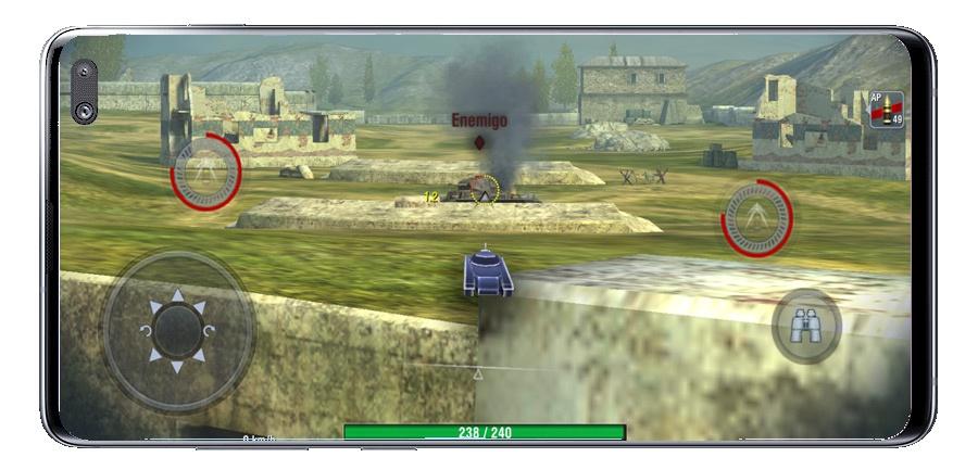 World of Tanks Blitz MMO ، محرك الدبابة وقتل جميع الأعداء 1