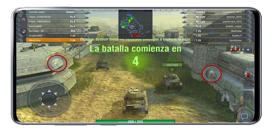 بدء اللعبة في World of Tanks Blitz MMO