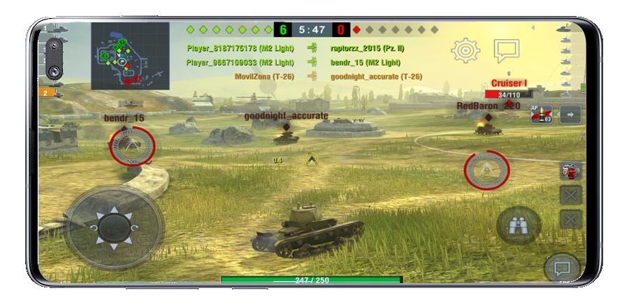 لعب عالم الدبابات الغارة MMO