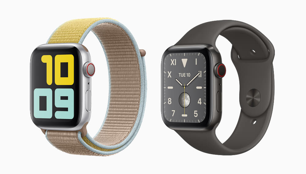 Apple Watch تم تقديم السلسلة 5: إضافة بوصلة وشاشة دائمًا على الميزة 1