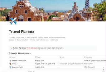 فكرة تخطيط السفر بالتفصيل
