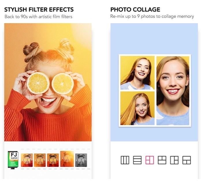 """تطبيق Sweet Camera - تطبيق Selfie Beauty Camera """"width ="""" 500 """"height ="""" 454"""