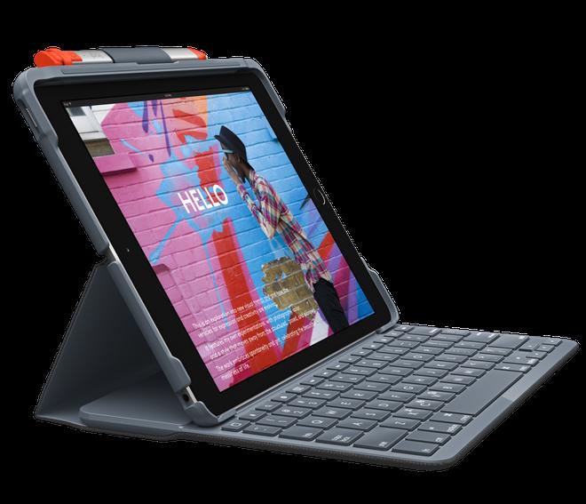 لوجيتك تقدم حافظات لوحة مفاتيح فوليو رفيعة وعرة لجهاز iPad 10.2 3