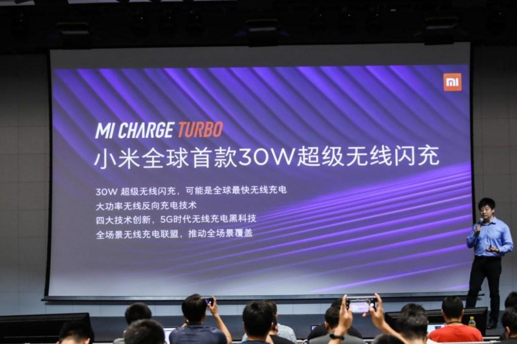 XIAOMI لإطلاق Mi Charge Turbo 30W Wireless Charging for Mi 9 Pro 5G 1