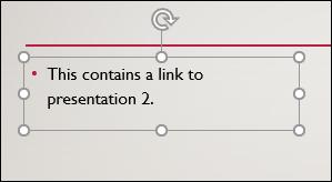 مربع نص محدد في PowerPoint.