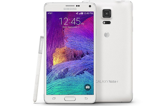 سامسونج الأمامي والخلفي Galaxy Note  4