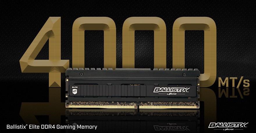 إصدارات حاسمة Ballistix النخبة DDR4 مجموعات الذاكرة 1