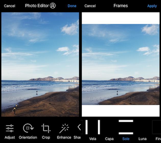 كيفية إضافة إطار أبيض إلى Instagram الصورة مع معاينة