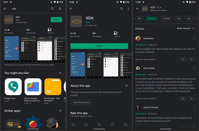 Google Play Storeالوضع المظلم يبدأ في التدوير 2