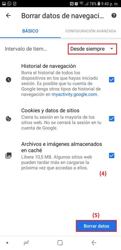 خطوات لمسح ذاكرة التخزين المؤقت لمتصفح Google Chrome
