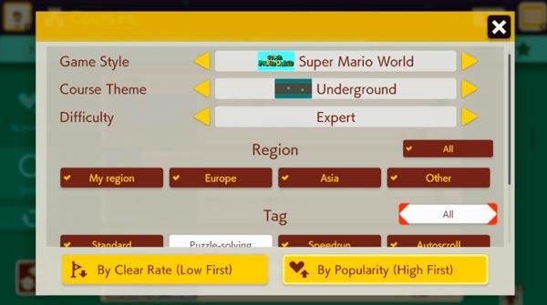 ماريو صانع 2 أنماط اللعبة