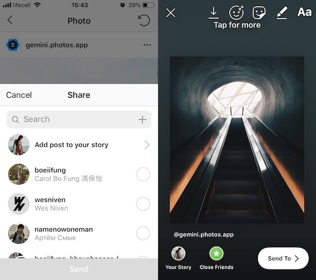 كيفية إعادة نشر Instagram الرد على القصص