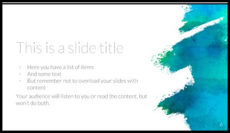 قالب Powerpoint الفني المجاني أو Google Slides Theme 00