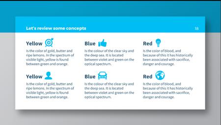 عرض قالب مجاني تصميم نظيفة وبسيطة لمحتوى الشركات