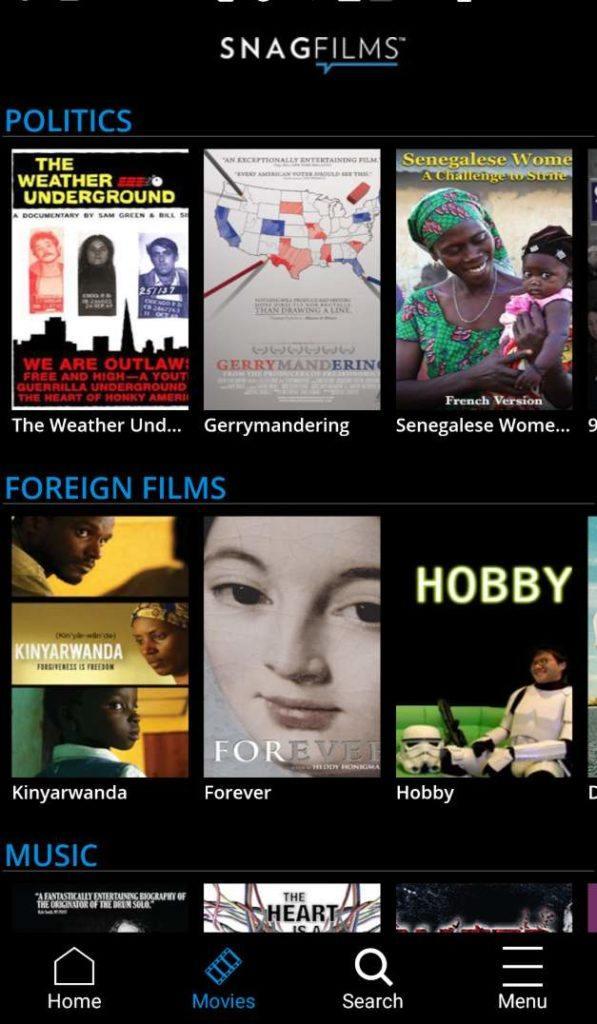 12 تطبيقات مجانية للأفلام والتلفزيون من أجل البث القانوني في 2019 5