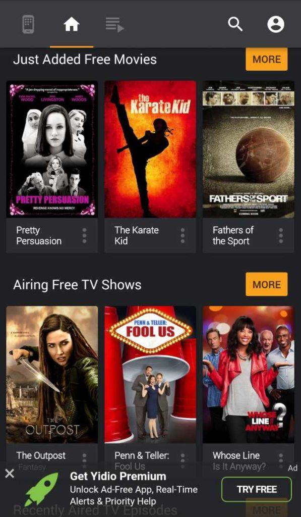 12 تطبيقات مجانية للأفلام والتلفزيون من أجل البث القانوني في 2019 7