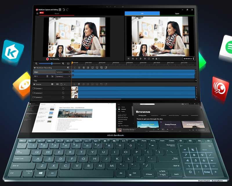 إطلاق شاشة ASUS ZenBook Pro Duo ScreenPad Plus