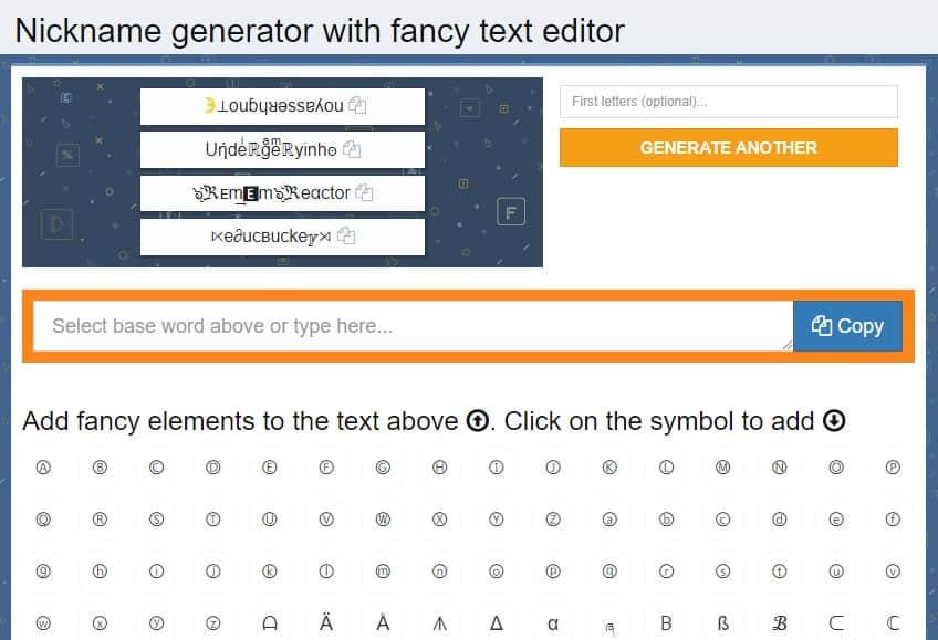 Fancy Text Generators Cool Fonts
