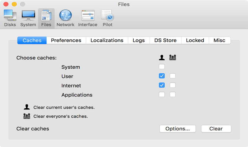 ذاكرة التخزين المؤقت للمستخدم تترك البرامج ملفات غير ضرورية في نظام التشغيل يجب حذفها