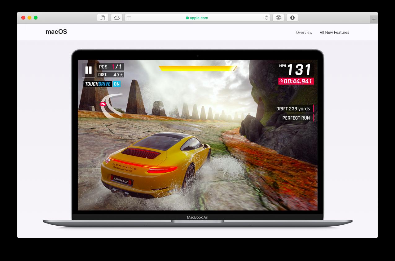 ألعاب macOS Windows نظام التشغيل الأجهزة