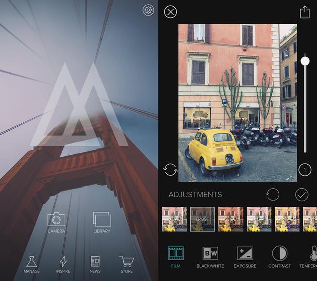 لقطات من Mextures ، تطبيق تأثيرات الصور على iPhone
