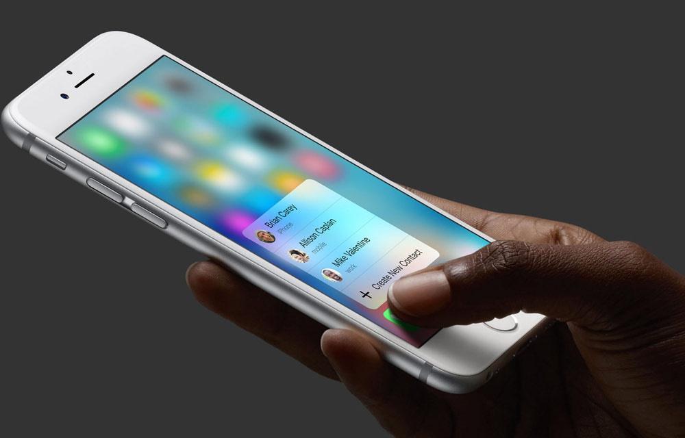 شاشة IPhone مزودة بتقنية 3D Touch