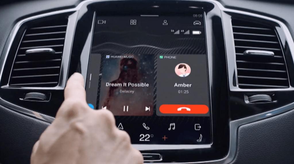 مع Huawei Hi Car ، وظائف smartphones تتكامل مع شاشات السيارات