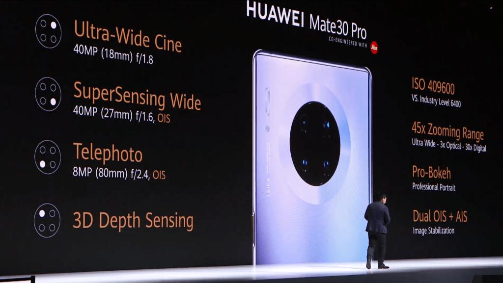 يعتبر Huawei Mate 30 Pro أول هاتف ذكي في العالم به مستشعر فيديو مخصص