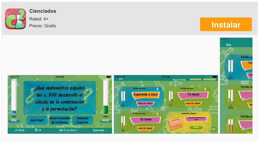 Cienciados ، لعبة سؤال وجواب حول Science for iPhone و iPad 7