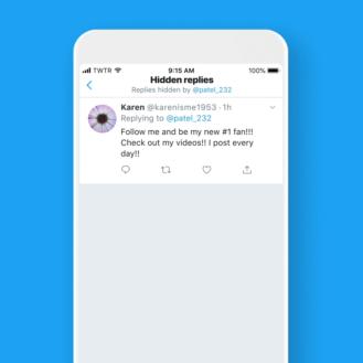 Twitter يتيح للمستخدمين في الولايات المتحدة إخفاء الردود في سلاسل الرسائل الخاصة بهم 1