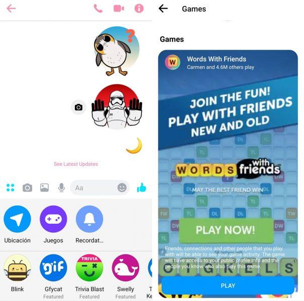 Juegos en Messenger