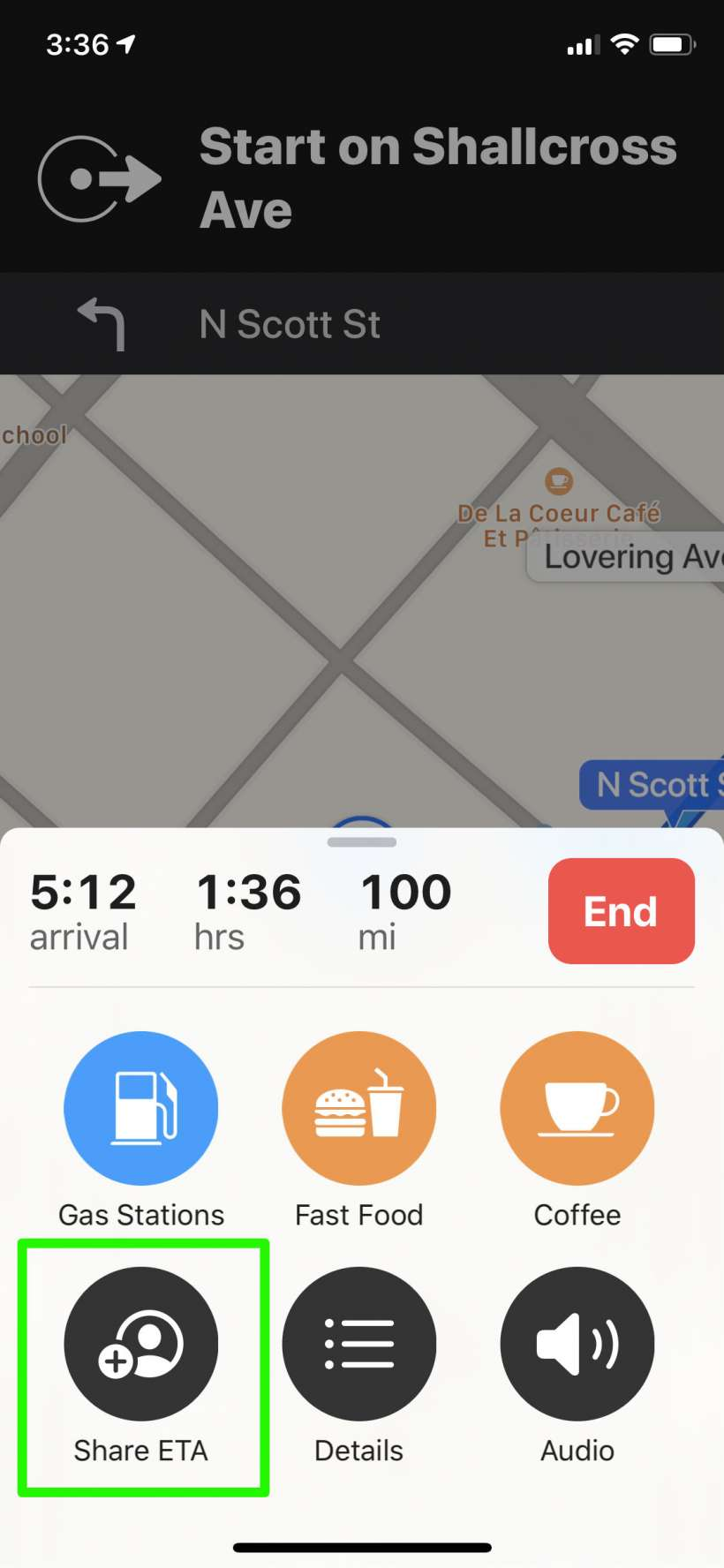 كيفية مشاركة ETA تلقائيًا من تطبيق Maps على iPhone و iPad.