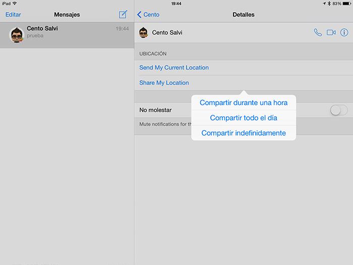 مع iOS 8 ، سيكون من الممكن إرسال الموقع الداخلي 2