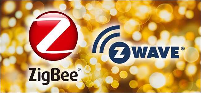 شعارات ZigBee و Z-Wave.