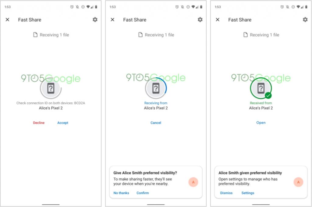 سيكون Fast Share هو اسم خليفة Android Beam لنقل الملفات بين الأجهزة 3