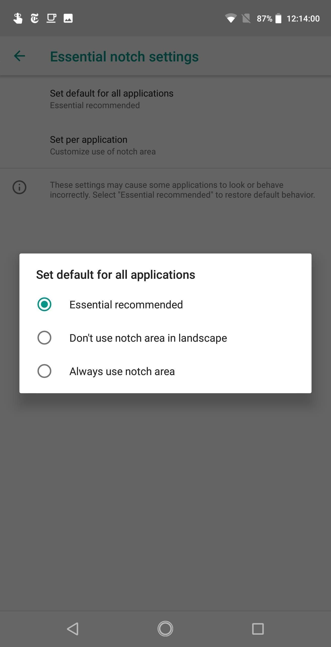 اجعل التطبيقات تستخدم الشاشة بالكامل على هاتفك الأساسي - حتى الشق