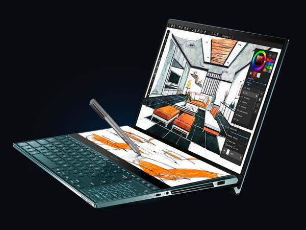 جهاز كمبيوتر محمول جديد من آسوس ZenBook Pro Duo (UX581) من شركة آسوس ، مع ScreenPad Plus 2
