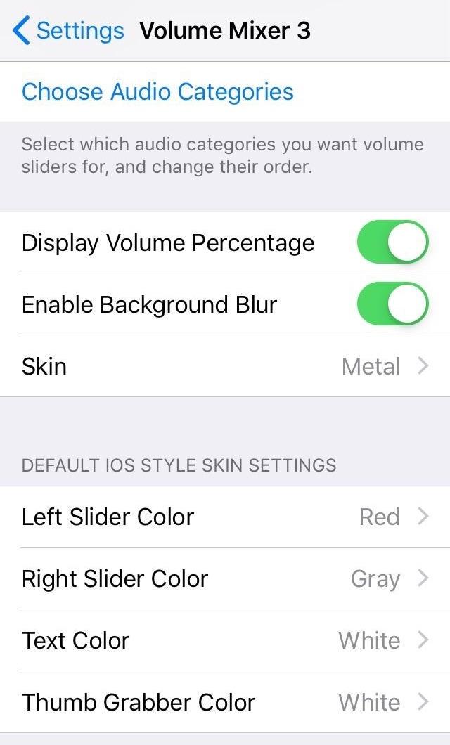 يوفر هذا القرص تحكمًا محسنًا في العديد من مستويات الصوت في هاتفك 2
