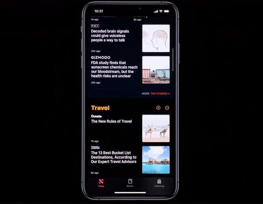 سوف يوفر الوضع الداكن الجديد لجهاز iPhone سمة سوداء
