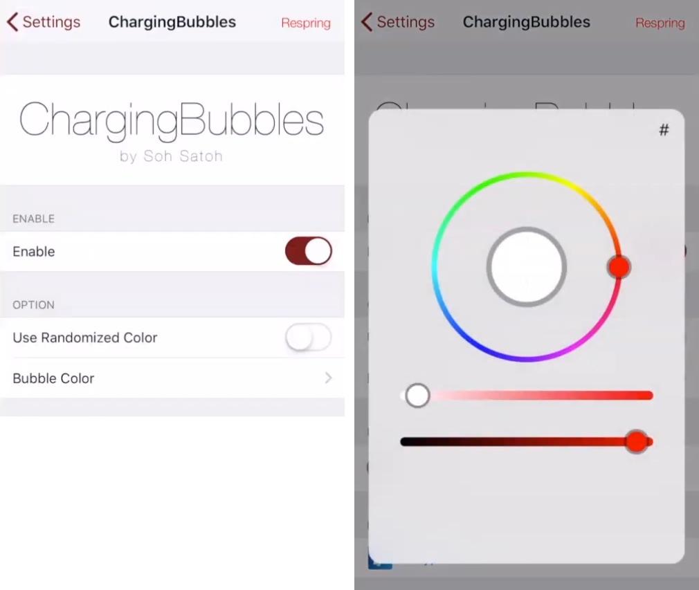 ChargingBubbles يمنح جهاز iPhone رسومًا متحركة جديدة للشحن 3