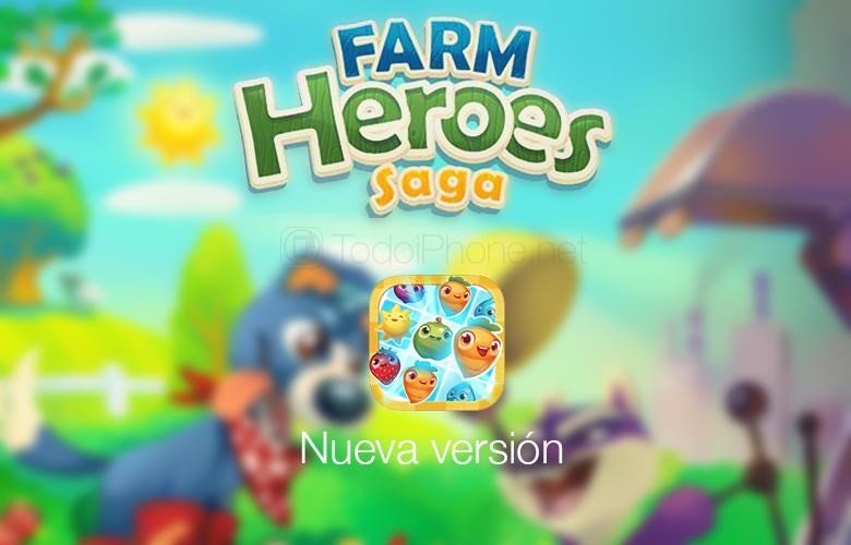 Farm Heroes Saga ، مستويات جديدة وممتعة متوفرة لأجهزة iPhone و iPad 1