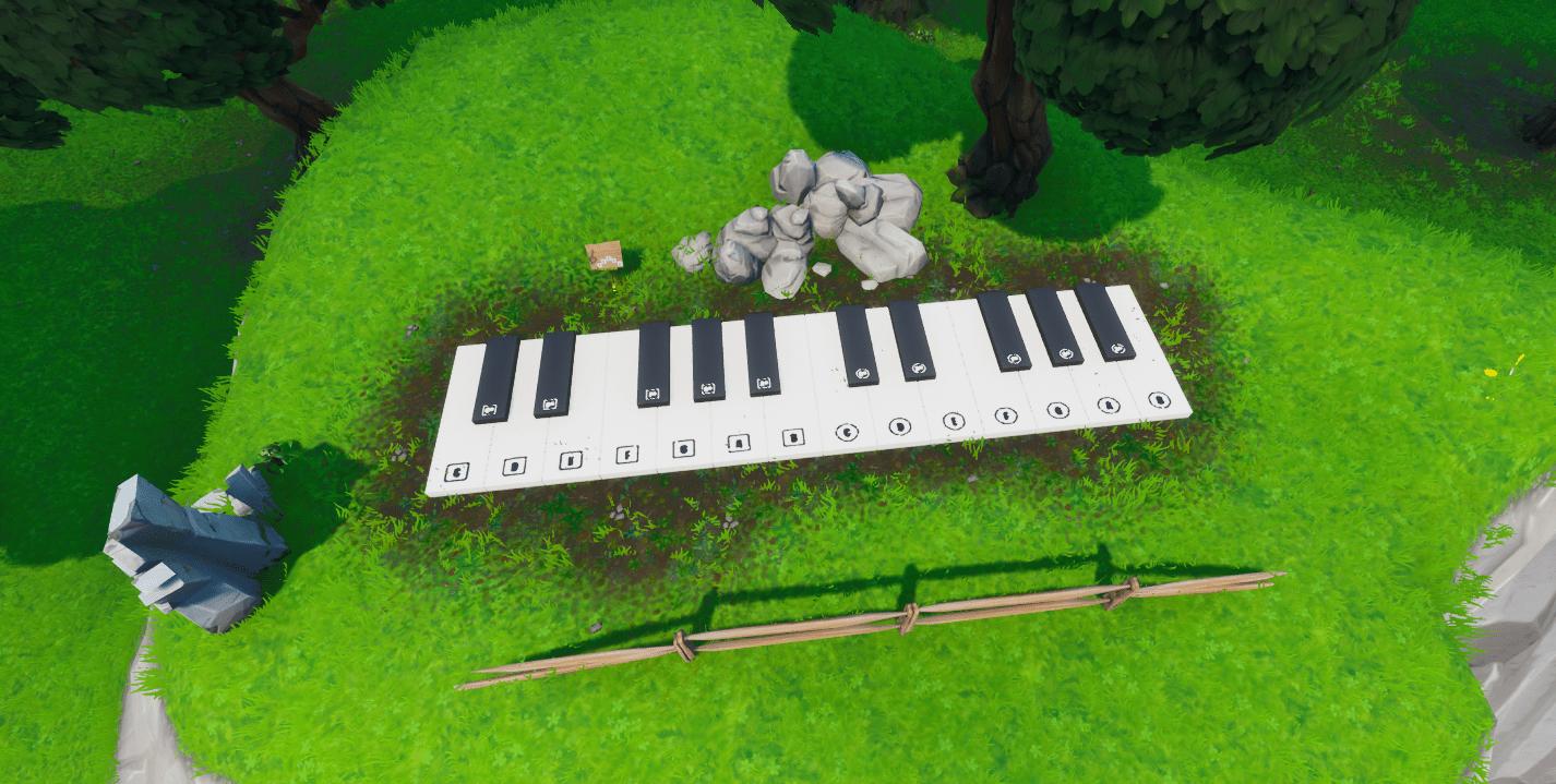 Fortnite  المتضخم بيانو الموقع