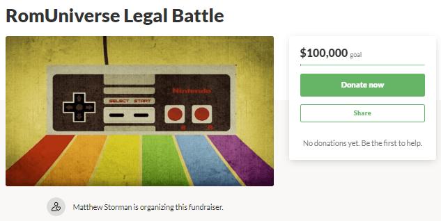 RomUniverse يهدف إلى Crowdfund القانونية 'Piracy' Battle With Nintendo 1