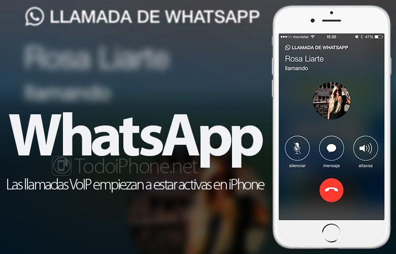 WhatsApp: تبدأ مكالمات VoIP في أن تكون نشطة على iPhone 1