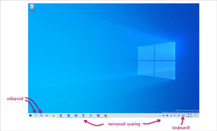 Windows 10 build 18970 متوفر الآن في الحلقة Fast مع وضع الكمبيوتر اللوحي المحسّن 2