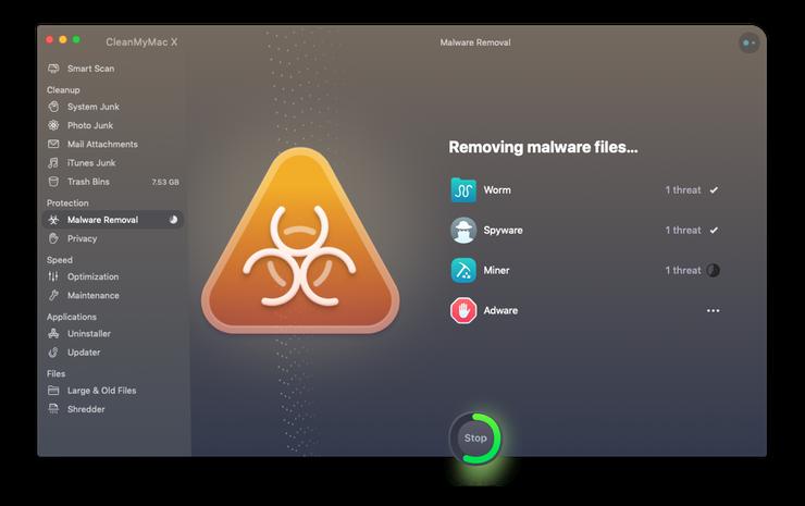 إزالة البرامج الضارة على Mac