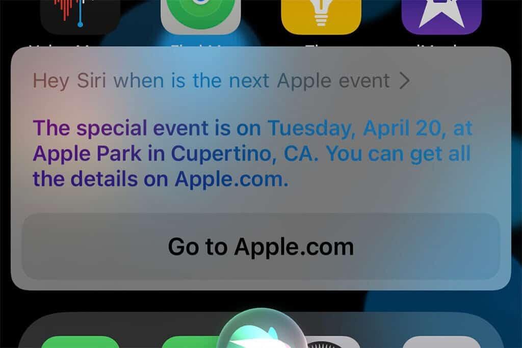 تاريخ الحدث Apple